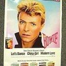 DAVID BOWIE Original PROMO Poster SHEENA EASTON