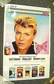DAVID BOWIE Original PROMO Poster SHEENA EASTON