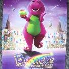 BARNEY'S Great Adventure ORIGINAL Poster DINOSAUR 1998
