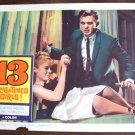 13 FRIGHTENED GIRLS! William Castle  POSTER Thirteen'59