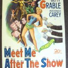 BETTY GRABLE Original MEET ME AFTER THE SHOW Poster '51