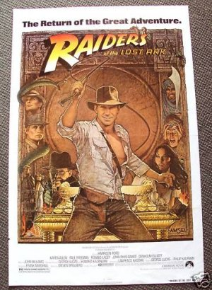 RAIDERS OF THE LOST ARK   1-Sheet POSTER  Harrison Ford