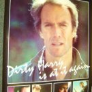 CLINT EASTWOOD Promo DIRTY HARRY is at it Again POSTER