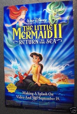 LITTLE MERMAID   Return to the Sea   ADVERTSING  Poster
