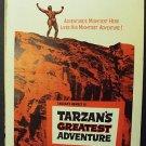 TARZAN Greatest ADVENTURE Window POSTER Gordon Scott 59
