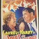 LAUREL & HARDY Orignal BELGIUM Poster TWICE TWO H Roach