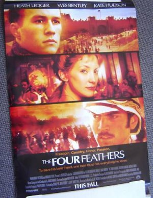 HEATH LEDGER The FOUR FEATHERS Poster WES BENTLEY 2002