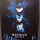 BATMAN Returns ORIGINAL ADVANCE Movie Poster TIM BURTON
