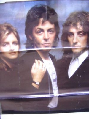 PAUL McCARTNEY &amp; WINGS Poster and  LINDA 1977  Beatles