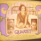 QUARTET  British UK Quad POSTER Alan Bates MAGGIE SMITH