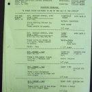 TAMMY GRIMES  show  SHOOTING SCHEDULE Dick Sargent 1966
