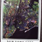 NEW YORK CITY Manhattan Satelite Space NY  POSTER 1989