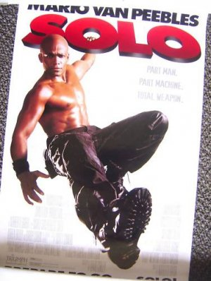 Shirtless MARIO VAN PEEBLES Mini SOLO  POSTER HUNK Pecs