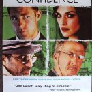 CONFIDENCE Poster DUSTIN HOFFMAN Rachel Weisz ED BURNS