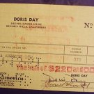 DORIS DAY  Original  Signed   AUTOGRAPH   Check   1951
