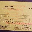 DORIS DAY  Original  Signed   AUTOGRAPH   Check   1951
