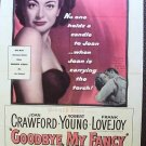 JOAN CRAWFORD Robert Young GOODBYE MY FANCY Poster 1951