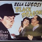 BELA LUGOSI Joan Barclay BLACK DRAGONS 1/2 Sheet POSTER