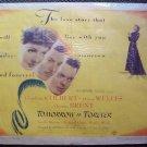 TOMORROW IS FOREVER Poster CLAUDETTE COLBERT Film Noir