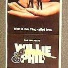WILLIE & PHIL  Insert  Movie  POSTER  Michael Ontkean