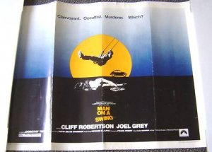 MAN ON A SWING Orig 1/2 Sheet  Poster CLIFF ROBERTON 74