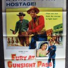 FURY AT GUNSIGHT PASS Western Poster DAVID BRIAN Cowboy