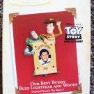 TOY STORY Hallmark PHOTO Ornament BUZZ LIGHTYEAR Woody