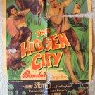 JOHNNY SHEFFIELD HIDDEN CITY Bomba JUNGLE BOY Poster