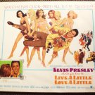Elvis Presley  LIVE A LITTLE, LOVE  1/2 Sheet POSTER 68