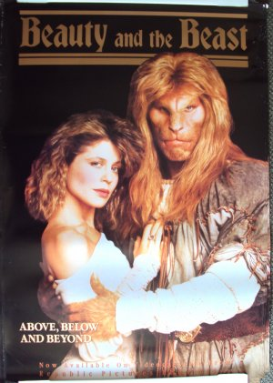 BEAUTY AND THE BEAST  POSTER Ron Perlman LINDA HAMILTON