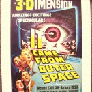 IT CAME FROM OUTER SPACE Sci-Fi 3-D poster Great ART
