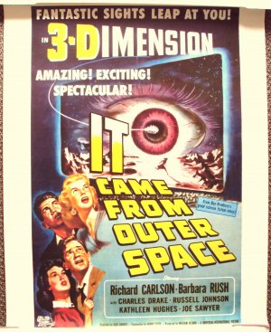It came from outer space sci fi 3 d poster great art for Watch it came from outer space