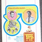 DAVID JANSSEN Las Vegas WHER IT'S AT Window Card POSTER