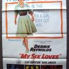 MY SIX LOVES Poster DAVID JANSSEN Debbie Reynolds 1963
