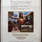 Greystoke Legend TARZAN Lord of the Apes PROMO Poster