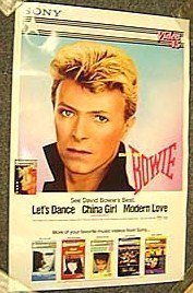 DAVID BOWIE Original PROMO Music Poster SHEENA EASTON