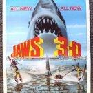 JAWS 3-D Advance Teaser Promo POSTER Universal SHARK 83
