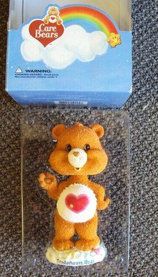 CARE BEARS Tenderheart Bear BOBBLE HEAD  KENNER Wobble