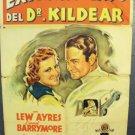Dr Kildare's Strange Case 1-Sheet Movie POSTER Barrymore LEW AYRES 1940 Vintage