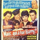 ALFRED HITCHCOCK Trouble With Harry BELGIUM Poster 1955 John Forsythe