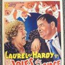 LAUREL & HARDY Orignal BELGIUM Poster TWICE TWO Hal  Roach Studios