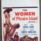 LYNN BARI The WOMEN OF PITCAIRN ISLAND Window-Card Poster Exotic 1956