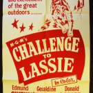 LASSIE Collie DOG Original 1949 Challenge to Lassie Vintage 1-sheet MGM Poster