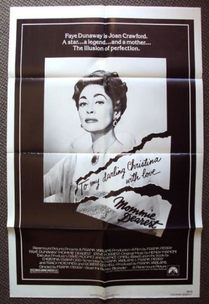 MOMMIE DEAREST Original 1-Sheet Movie POSTER JOAN CRAWFORD Faye Dunaway Cult