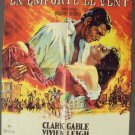GONE WITH THE WIND Foreign STUNNING MGM  Original POSTER  Vivien Leigh  GABLE