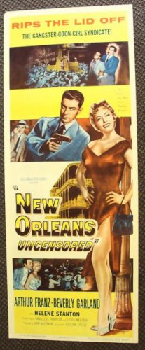 NEW ORLEANS Uncensored INSERT Poster BEVERLY GARLAND 1955 William Castle Classic