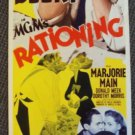 WALLACE BEERY Vintage Original Insert MGM Poster RATIONING Marjorie Main