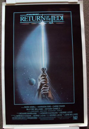 "RETURN OF THE JEDI Original ""A"" Movie POSTER Star Wars"