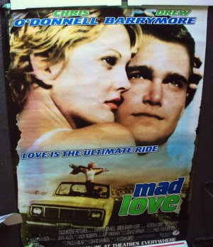 CHRIS O'DONNELL Drew Barrymore BIG Promo POSTER MAD LOVE  NCIS
