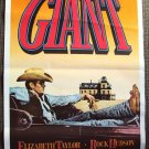 GIANT  Original JAMES DEAN  Poster Cowboy Western Look!